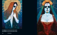 Day of The Dead and Other Works by Sylvia Ji. Midnight Sun and Flor del Muerto.