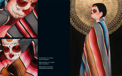 Day of The Dead and Other Works by Sylvia Ji. Serape Grey, Serape Rojo and Sol de Oro.