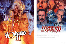 Pages from the book Hung, Drawn and Executed: The Horror Art of Graham Humphreys: Horror Express and The Howling II