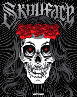 Skullface: cover illustration by Brian Ewing.  published by Korero