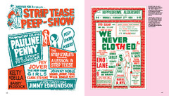 Burlesque Poster Design:  Strip Tease Peep-show and We Never Clothed!