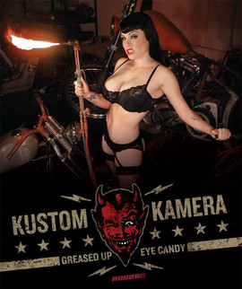 Kustom Kamera: Greased Up Eye Candy. Cover photo by Roy Varga.
