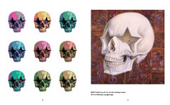 Death and Eternal Forever by Ron English. Painting Star skull.