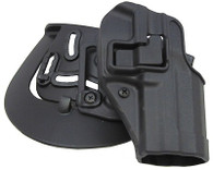 BlackHawk Products Group Serpa CQC, Belt & Paddle Holster, Plain Matte Black Finish - H&K, USP Full, Right Hand - 410514BK-R
