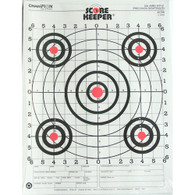 Champion Traps and Targets Scorekeeper Targets - Fluorescent Orange Bull - 100 yd. Small Bore Rifle (12 pk) - 45726
