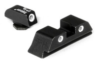 Trijicon Bright and Tough Self Illuminous Night Sights - Glock 3 Dot Green front and rear - GL01