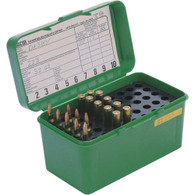 MTM Case-Gard Deluxe H-50 Series Large Rifle Ammo Box - 50 Round - Green - H50RL10