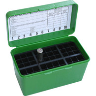 MTM Case-Gard Deluxe H-50 Series X-Large Rifle Ammo Box - 50 Round - Green - H50XL10