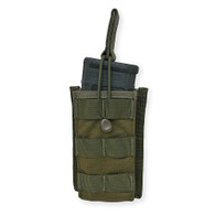 Single Rifle Mag Pouch Open Top Olive Drab Green