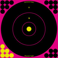 "Birchwood Casey Shoot-N-C Pink 8"" Bull's-Eye Target 30pk"