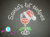 "Santa's Lil Helper ""WINEGLASS"""