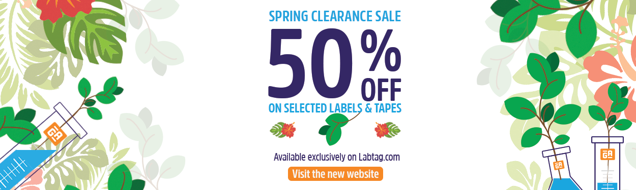 Clearance on deep-freeze labels and tapes. 50% discount on selected labels and tapes.