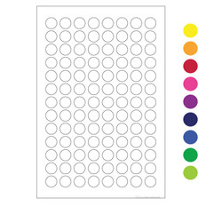 "Cryogenic Color Dots - 0.35"" circles #LT-9 (colors available)"