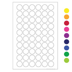 "Cryogenic Color Dots - 0.5"" circles #LT-13 (colors available)"