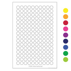 "Deep-Freeze Color Dots - 0.28"" circles #WRPLT-7 (colors available)"