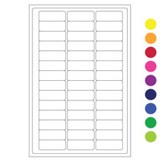 "Cryo laser labels - 1.02"" x 0.4"" #CLH-1 (colors available)"