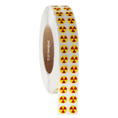 "RADIOACTIVE warning labels 0.5""  #WL-014"