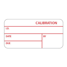 "Self-Laminating Calibration Labels - 1"" x 2.125"" #CAL-002-1R"