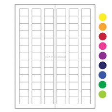 "Cryo Laser Labels - 0.94"" x 0.77""  #CL-4 (colors available)"