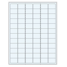 "Clear cryo laser labels - 1.26"" x 0.87"" #TRCL-9"