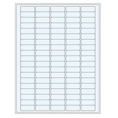 "Clear cryo laser labels - 1.42"" x 0.55"" #TRCL-6"