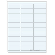 "Clear cryo laser labels - 2.63"" x 1""  #TRCL-3"