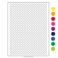 "Cryo laser labels - 0.35"" circle  #HCL-10 (colors available)"