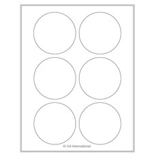 "Cryo laser labels - 3.125"" circle #CL-53"