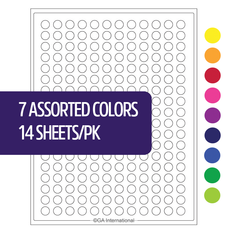 "Cryo Laser Labels - 0.433"" circle  #HCL-5 (7 assorted colors)"