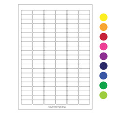 "Cryo Laser Labels - 1.24"" x 0.512"" #A4CL-23 (colors available)"