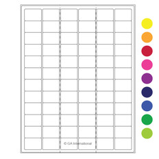 "Cryo laser labels - 1.26"" x 0.87"" #RCL-9 (colors available)"