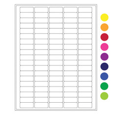 "Cryo laser labels - 1.42"" x 0.55""  #RCL-6 (colors available)"