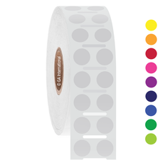 "Thermal Transfer Color dots paper labels - 0.354"" circle #GP-61NPNOT"