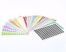 "Color Dots Paper Removable Labels  - 0.354"" #SSLRP-9"