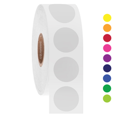 """Thermal Transfer Paper Labels - 0.75"""" circle  #GPA-106NP (Case of 6 Rolls)"""