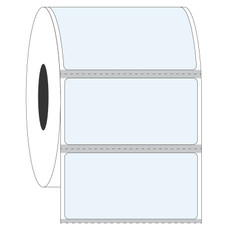 "Cryo & Autoclave-Resistant Clear Labels - 1.5"" x 0.875"" #GAN-107 Black Mark"