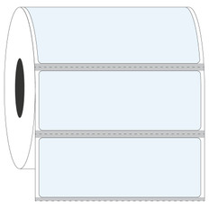 "Cryo & Autoclave-Resistant Clear Labels - 2.72"" x 1"" #GAN-210 Black Mark"