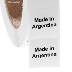 "Made in Argentina - Oil-proof country of origin labels - 1"" x 1"" #ABA-1003"