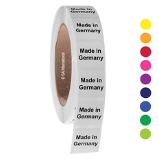 "Made in Germany - Oil-proof country of origin labels - 1"" x 1"" #ABA-1016"
