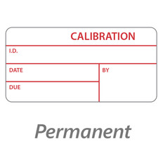 "Self-Laminating Calibration Labels - 0.75"" x 1.5""  #CAL-001-1P"