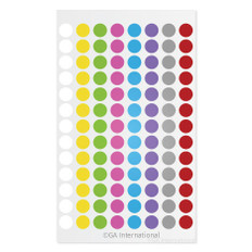 "Cryogenic Color Dots - 0.35"" circles #LT-9X8A (8 colors across)"