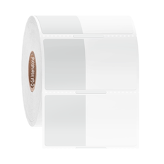 """Wrap-Around Cryogenic Labels for Thermal Transfer Printers - 1"""" x 1.25"""" +1.25"""" wrap #HBTT-320NOT"""