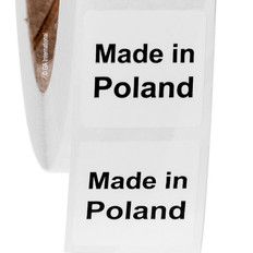 "Made in Poland - Oil-proof country of origin labels - 1"" x 1"" #ABA-1028"