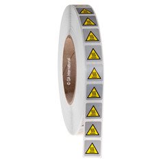 "Hot Surface Hazard Symbol - Warning Label 0.75"" x 0.75"" #WL-008"