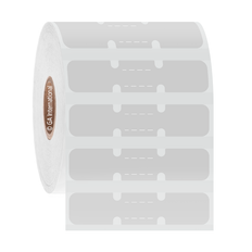 """Thermal Transfer Jewelry Dumbbell Labels - 2.1875"""" x 0.5"""" #JDB-2"""