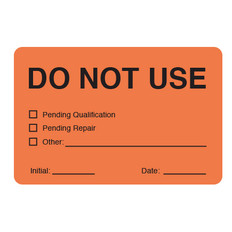 "Self-Laminating Calibration Labels - 2"" x 3"" - DO NOT USE - #CAL-006-0.25R"