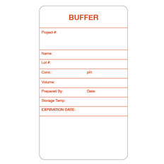 "Self-Laminating Calibration Labels - 3.5"" x 2"" - BUFFER - #CAL-003-0.25R"