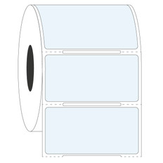 "Cryo & Autoclave-Resistant Clear Labels - 2"" x 1""  #GAN-28 Notch"