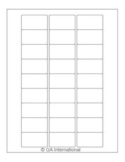 """Autoclave Labels for Laboratory Glass Wear - 2"""" x 1.125""""  #AKA-63"""