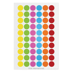 "Cryogenic Color Dots - 0.5"" circles #JT-13X6A (6 colors across)"